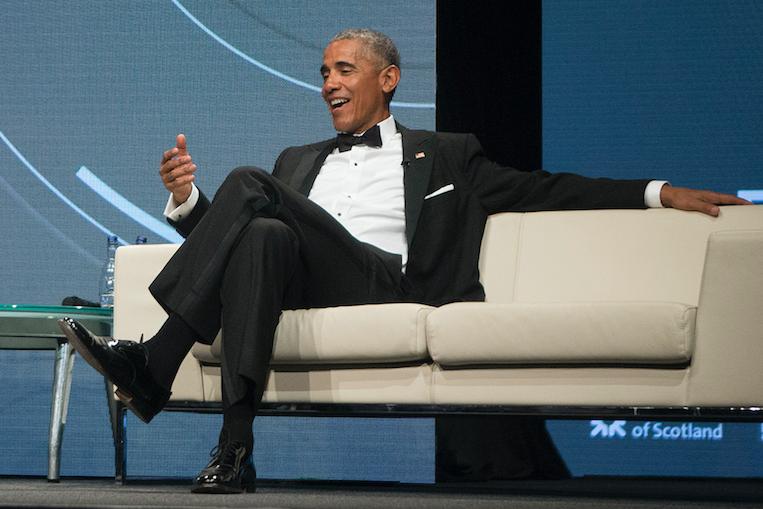 Barack Obama in Edinburgh