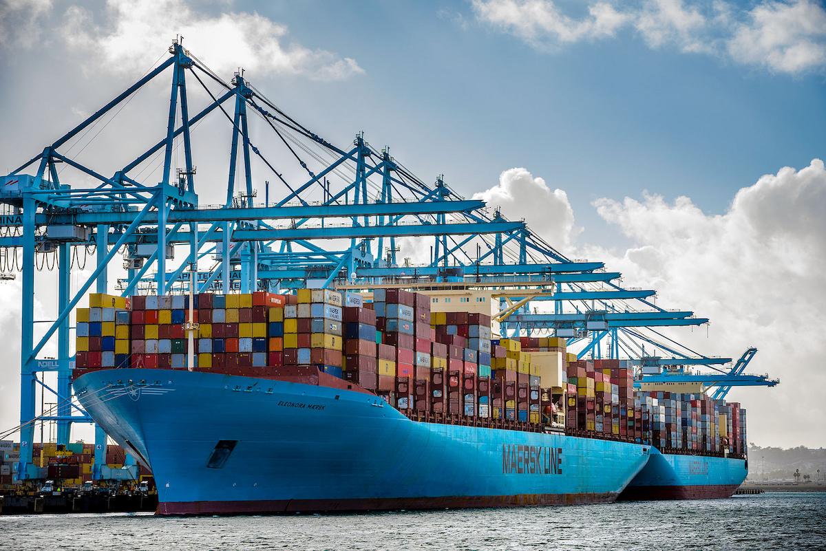 Eleonora Maersk Los Angeles Record