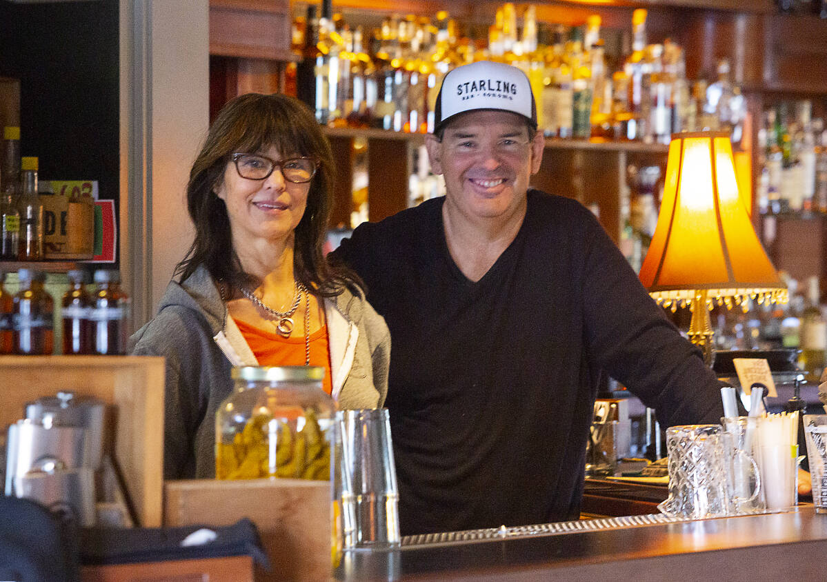 Elizabeth Takeuchi-Krist and Fred Johnson, co-owners of the Starling Bar on Highway 12, will soon be accepting Bitcoin for payment. (Photo by Robbi Pengelly/Index-Tribune)