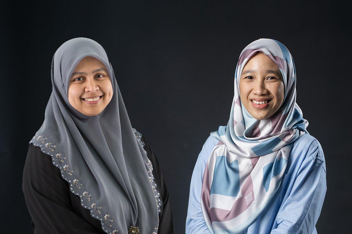 Associate Professor Dr Nor Shaipah Abdul Wahab (left) and Ms Siti Hawa Yusof